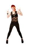 Heavy metal horns gesture Royalty Free Stock Image