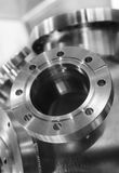 Heavy metal housing with welded flanges. Royalty Free Stock Photo