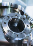 Heavy metal housing with welded flanges. Royalty Free Stock Photography