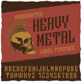Heavy Metal Label Typeface Poster Stock Photos