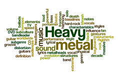 Heavy Metal Music. Word Cloud Illustration of Heavy Metal Music - containing sub-genres Royalty Free Stock Images