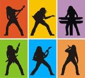 Heavy metal musicians vector illustration