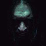Heavy Metal Portrait. Portrait of a man, with serious and full of anger and hate face expression Stock Image