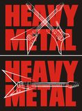 Heavy metal - rock music Stock Images
