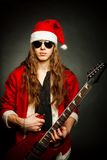 Heavy metal Santa Royalty Free Stock Image