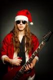 Heavy metal Santa Royalty Free Stock Image