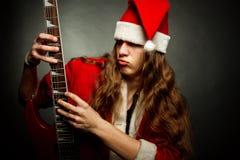 Heavy metal Santa Stock Images