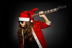 Heavy metal Santa Royalty Free Stock Photos