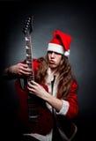 Heavy metal Santa Stock Image