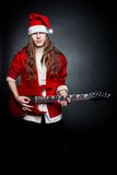 Heavy metal Santa Stock Photos