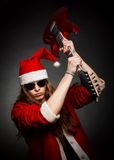 Heavy metal Santa Royalty Free Stock Images