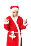 Heavy metal santa Stock Photography