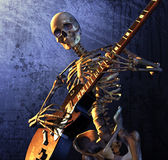 Heavy Metal Skeleton. Skeleton playing guitar - combines 3d render with digital painting Royalty Free Stock Image