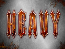 Heavy Metal Themed background Royalty Free Stock Photography
