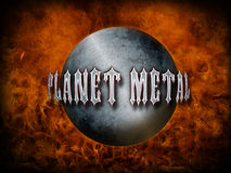 Heavy Metal Themed background Royalty Free Stock Photos