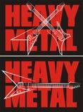Heavy metal - vagga musik Arkivbilder
