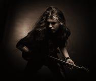 Heavy metalgitarrist Arkivbilder