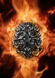 Heavy metalhjärna royaltyfri illustrationer