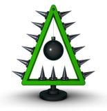 Heavy metaljulträd stock illustrationer
