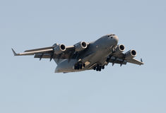 Heavy military cargo jet. Modern US Air Force cargo transport airplane stock photography