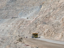 Heavy mining truck. In mine and driving along Stock Photography