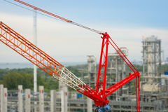 Heavy mobile crane of construction petrochemical industrial. Stock Images
