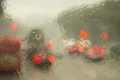 Heavy monsoon rain Singapore Stock Photo