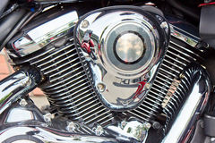 A Heavy Motorcycle Engine Stock Photo