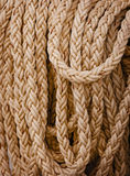 Heavy nautical linen rope Royalty Free Stock Image