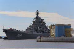 Free Heavy Nuclear Missile Cruiser Peter The Great Royalty Free Stock Images - 108267239