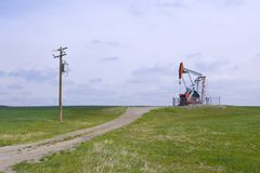 Heavy Oil Pump Jack Royalty Free Stock Photos