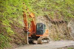 Heavy pickhammer machinery Stock Photo
