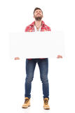 Heavy placard Royalty Free Stock Photos