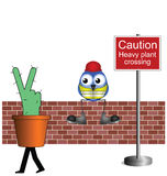 Heavy plant crossing Royalty Free Stock Photography