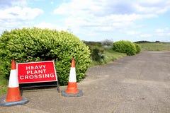 Heavy plant crossing. Royalty Free Stock Photo