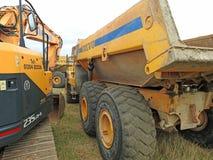 Heavy plant lorries Stock Images