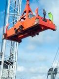 Heavy port crane ready for loading. Stock Photo