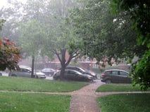 Heavy Rain burza w washington dc w Czerwcu zdjęcia stock
