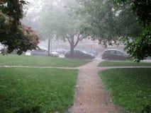 Heavy Rain burza w washington dc obraz stock