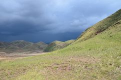 Heavy rain is coming soon royalty free stock photography