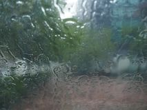 Rain drop. Heavy rain drop on windshield Royalty Free Stock Images