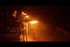 Heavy rain stock footage