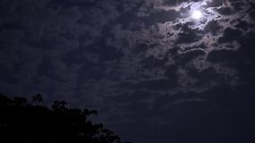 The timelapse of fast moving clouds stock video footage