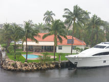 Heavy rain in Fort Lauderdale, Florida, USA Royalty Free Stock Photography