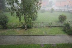 Heavy rain and hail Royalty Free Stock Photo