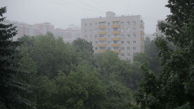 Heavy rain. High angle view from window 3 Royalty Free Stock Photography