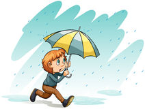 A heavy rain. An idiom showing a heavy rain on a white background Royalty Free Stock Photos