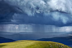 Heavy rain in mountains Royalty Free Stock Image