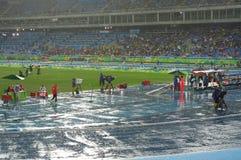 Heavy rain at Olympic Stadium Rio2016 Stock Photography