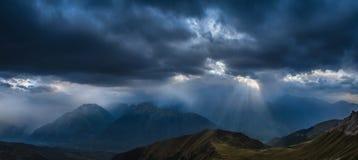 Heavy rain over mountains. Adzharo-Imeretinskiy Range. Royalty Free Stock Image